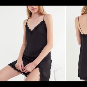 Urban Outfitters Black Lace Slip Dress